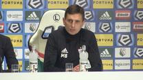Legia - Górnik 1-0. Marcin Brosz: Chciałbym podziękować naszym kibicom (wideo)
