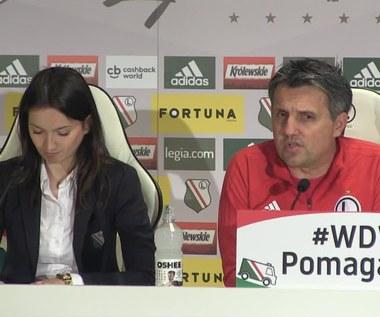 Legia Warszawa - Górnik Zabrze. Romeo Jozak przed meczem (wideo)