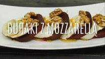 Lekka kolacja - buraki z mozzarellą
