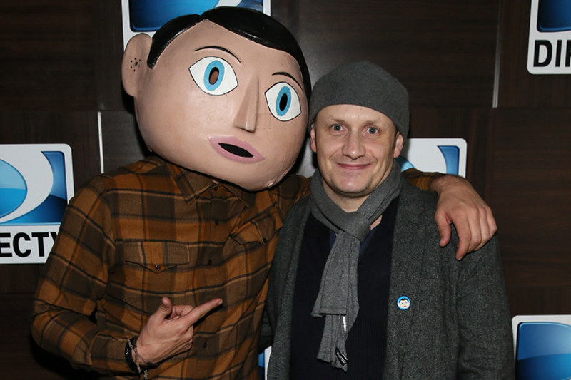 Lenny Abrahamson z Frankiem - tytułowym bohaterem swojego najnowszego filmu /Getty Images