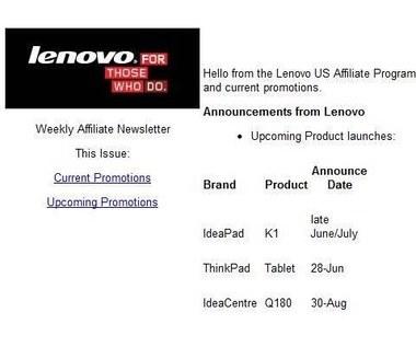 Lenovo ThinkPad Tablet - premiera w czerwcu?