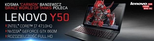 Lenovo Y50.  Laptop dla graczy z certyfikatem Cybersportu /materiały prasowe