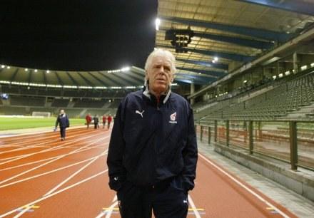 Leo Beenhakker na Stadionie Roi Baudouin /Darek Hermiesz/SPORT-FOTO