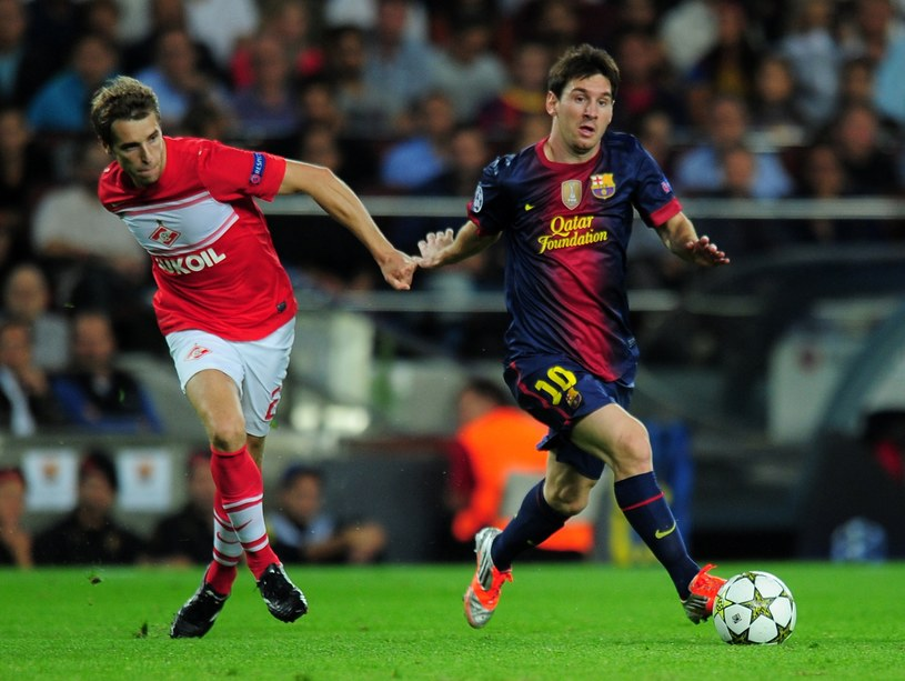 Leo Messi poprowadził Barcelonę do zwycięstwa nad Spartakiem /AFP