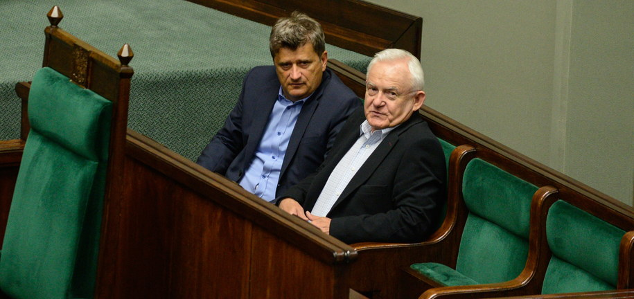 Leszek Miller i Janusz Palikot /Jakub Kamiński   /PAP
