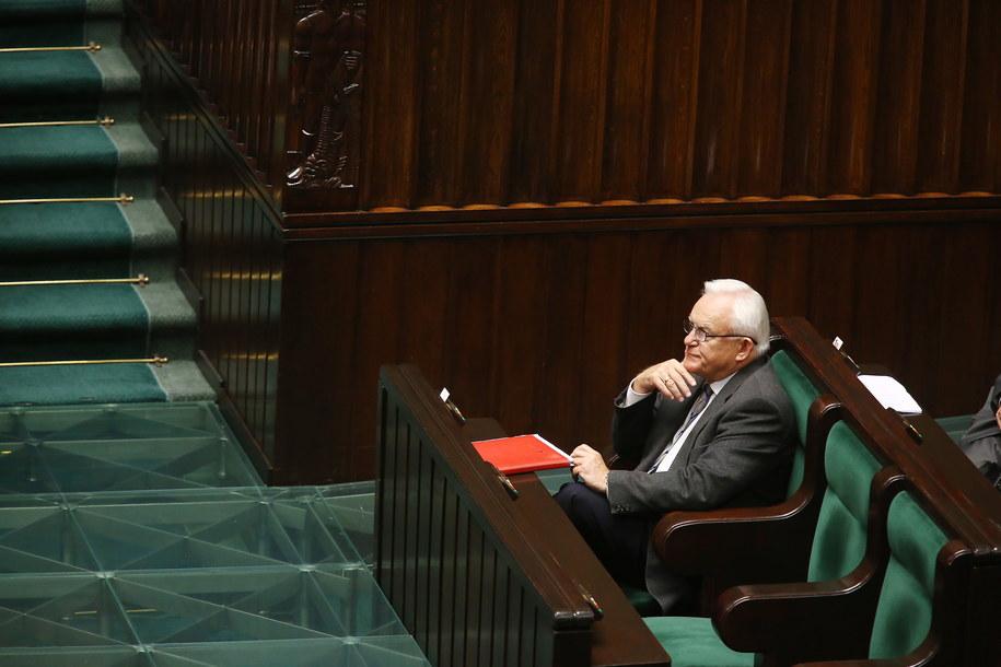 Leszek Miller podczas posiedzenia Sejmu /Tomasz Gzell /PAP