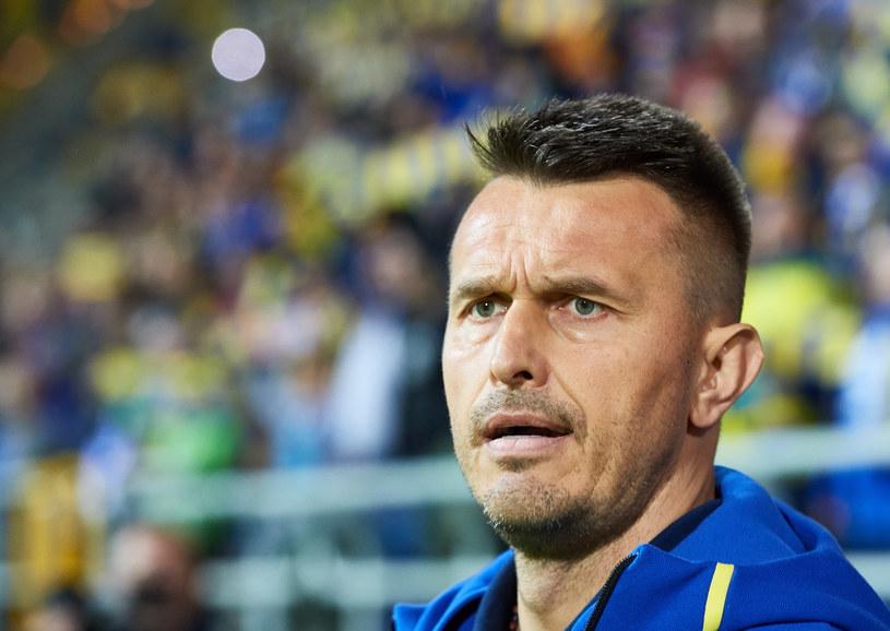 Leszek Ojrzyński, trener Arki /Adam Warżawa /PAP