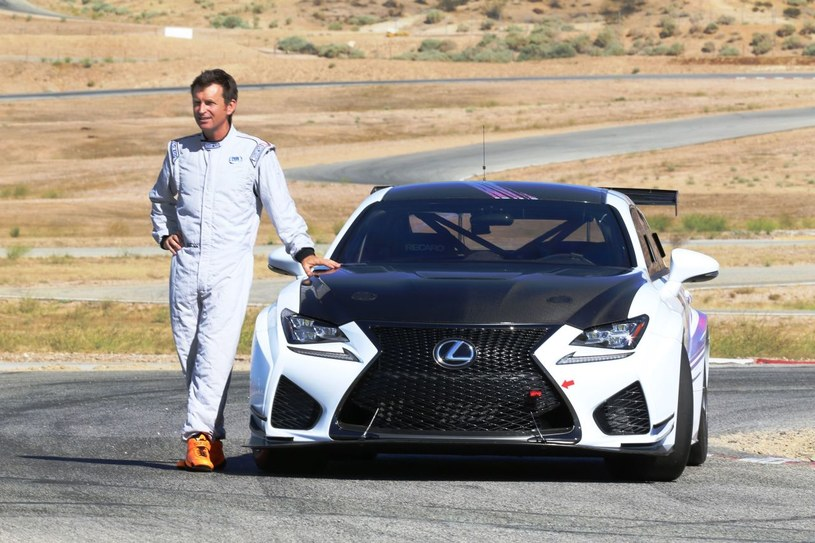 Lexus RC F GT i Justin Bell podczas testów na Pikes Peak /