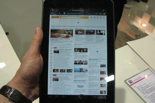 LG Optimus Pad, Android 3.0 i nowa strona główna INTERIA.PL /INTERIA.PL
