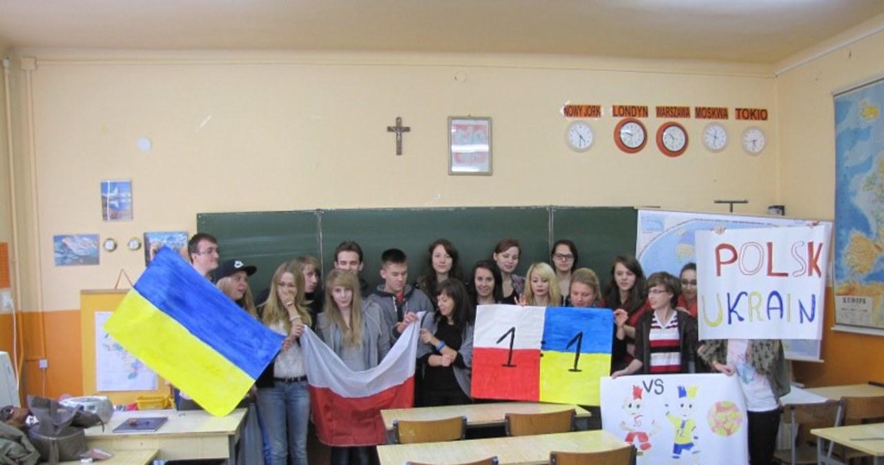 Licealiści rozegrali mecz przyjaźni Polsko-Ukraińskiej