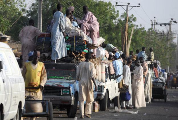 Liczba uciekinierów wynosi blisko 20 tysięcy osób fot. Pius Utomi Ekpei /AFP