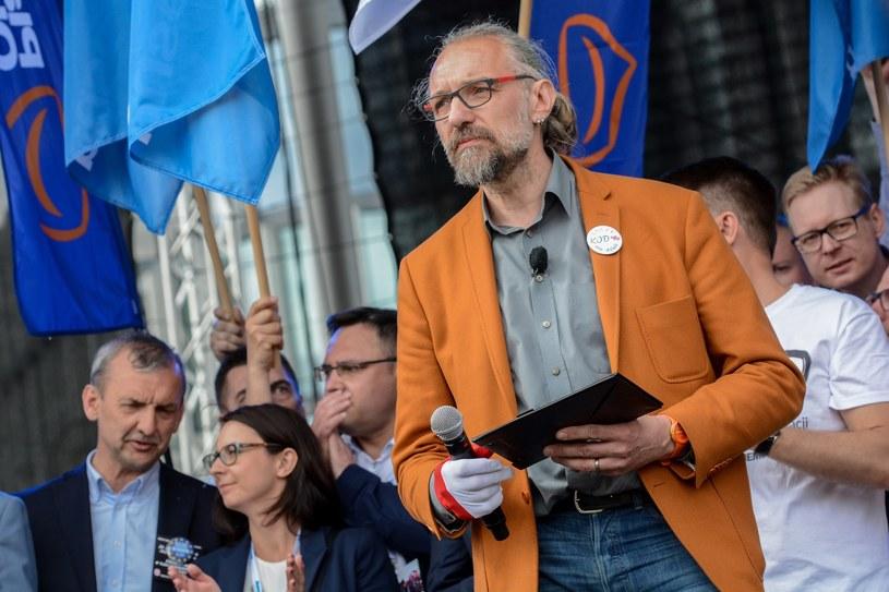 Lider KOD Mateusz Kijowski /Mariusz Gaczyński /East News