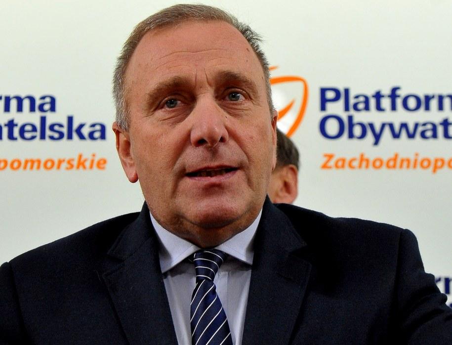 Lider PO Grzegorz Schetyna /Marcin Bielecki /PAP