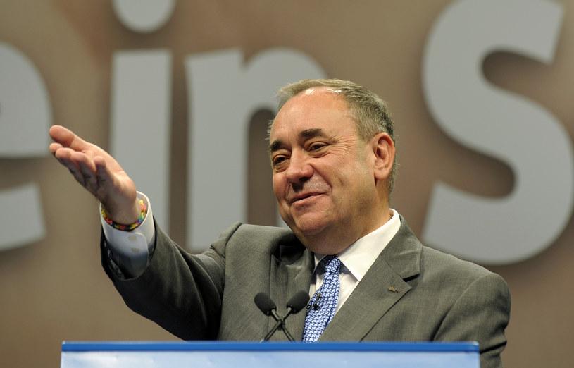 Lider szkockich nacjonalistów, premier rządu w Edynburgu Alex Salmond /AFP