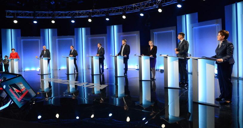 Liderzy partii, które walczą o głosy w wyborach /Jacek Turczyk /PAP
