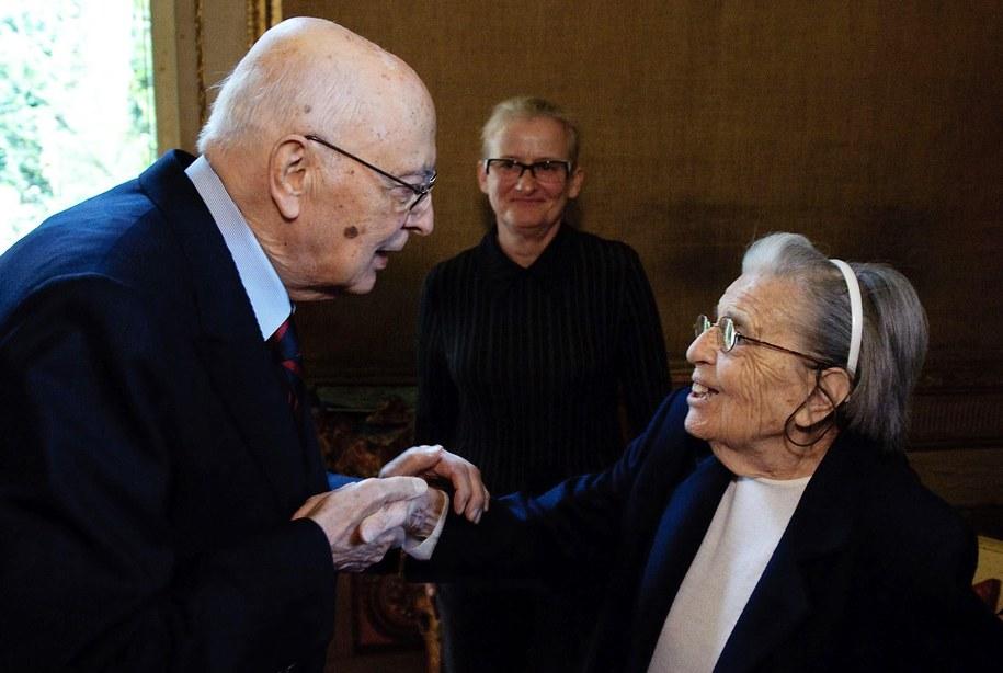 Lidia Croce i były prezydent Włoch Giogrio Napolitano /PAP/EPA/PAOLO GIANDOTTI /PAP/EPA