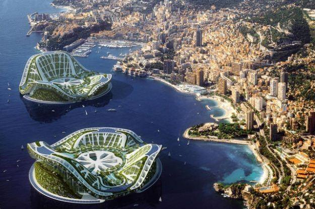 Lilypads - pływające miasta przyszłości (Fot. Vincent Callebaut) /Internet