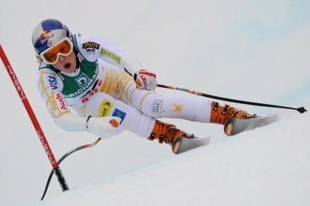 Lindsey Vonn na trasie supergiganta /AFP