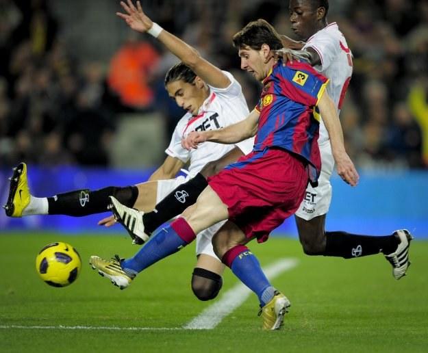 Lionel Messi, gwiazda Barcelony /AFP