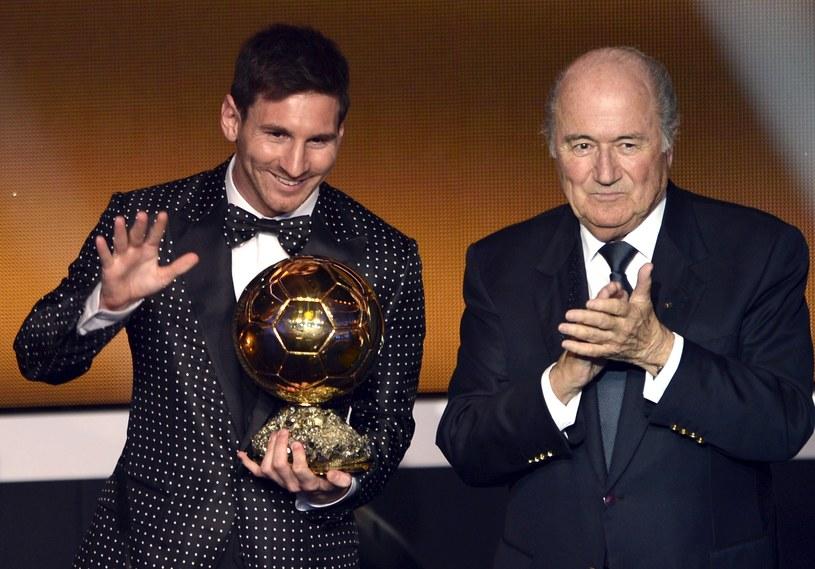 Lionel Messi i prezydent FIFA Joseph Blatter /AFP