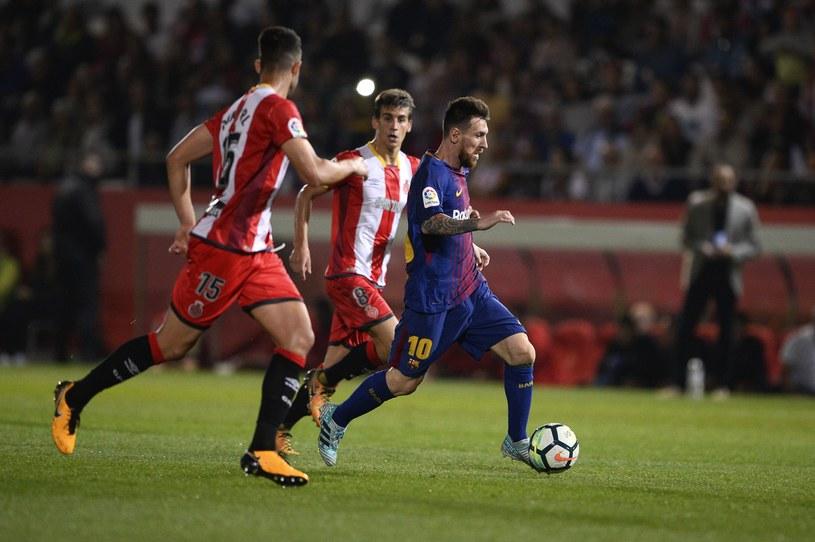 Lionel Messi podczas meczu na Estadi Montilivi /AFP