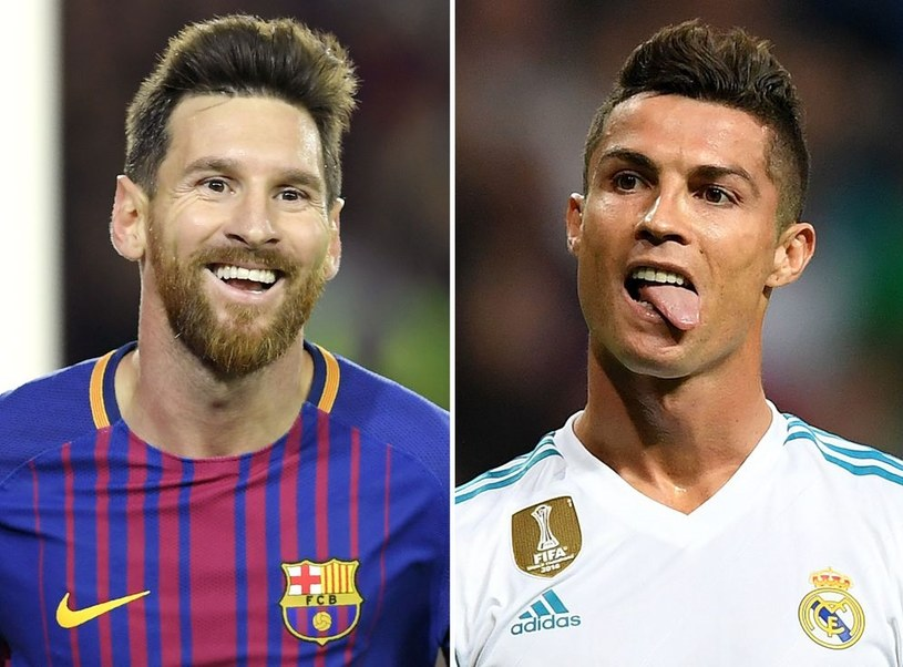 Lionel Messi (z lewej) i Cristiano Ronaldo /AFP
