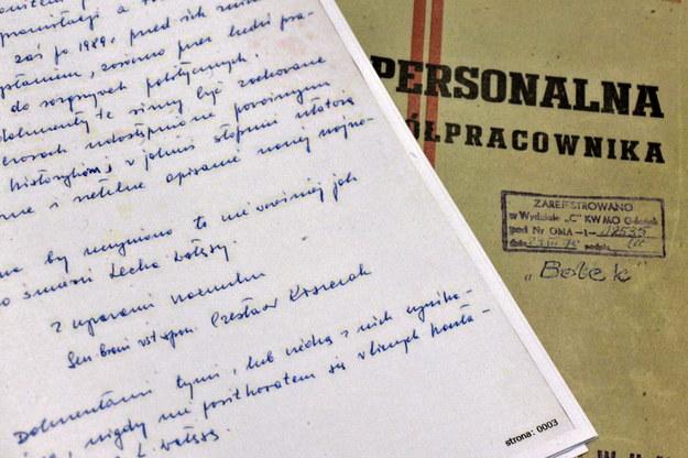 List Czesława Kiszczaka do dyrektora Archiwum Akt Nowych /Jacek Turczyk /PAP