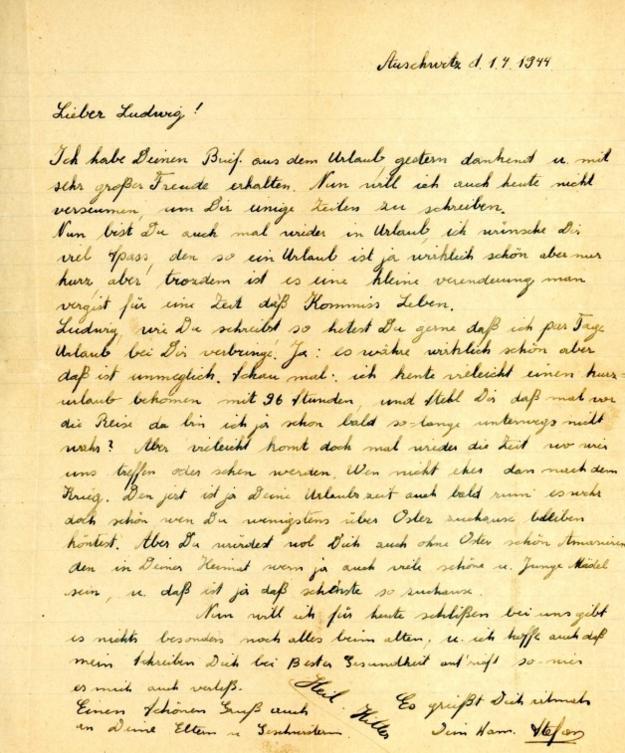 List esesmana z Auschwitz /Auschwitz.org /INTERIA.PL