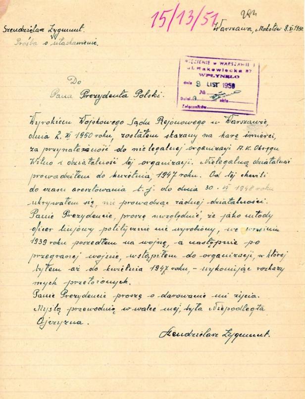 """List """"Łupaszki"""" do Bieruta /Archiwum Akt Nowych"""