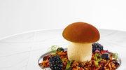 Lody z karmelizowanych prawdziwków na sosie porzeczkowym z rozmarynem