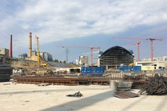 Łódź Fabryczna w budowie