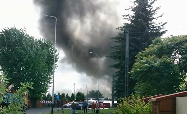 Łódź: Pożar hurtowni materiałów florystycznych