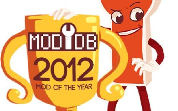 Logo plebiscytu najlepszych modyfikacji do gier 2012 roku portalu ModDB /