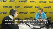 Longina Kaczmarska: Ja już w nic nie wierzę, jeśli chodzi o mnie. Nie wierzę już żadnej partii politycznej