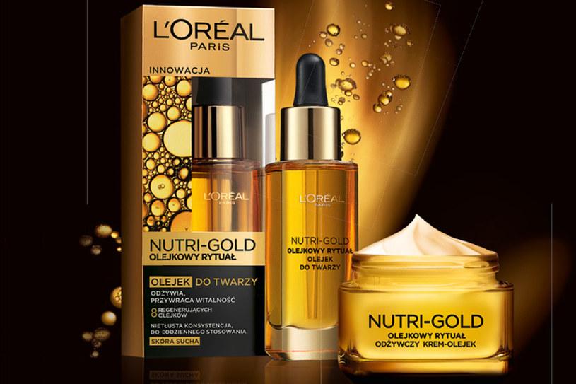 L'Oreal Paris Nutri-gold krem-olej i olejek /materiały prasowe