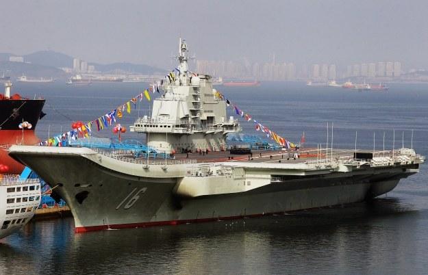 Lotniskowiec Liaoning /AFP