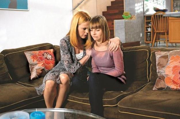 Łucja (Magda Wójcik) namawia Nikolę, by nie rezygnowała z Juliana. /Mat. Prasowe