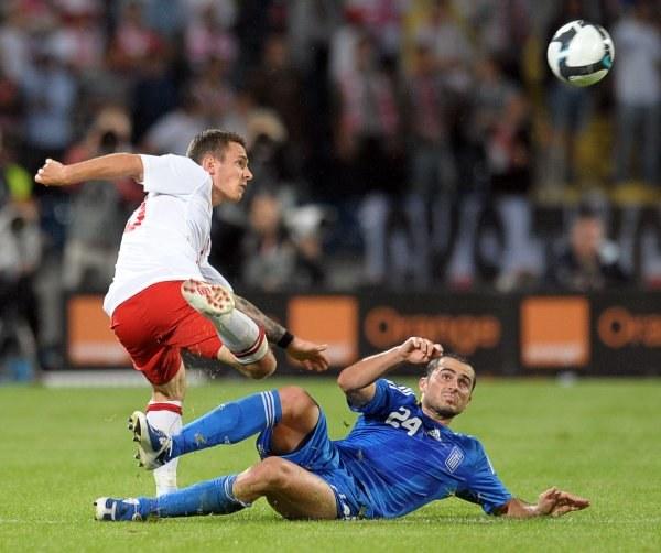 Ludovic Obraniak w meczu Polska - Grecja. /AFP