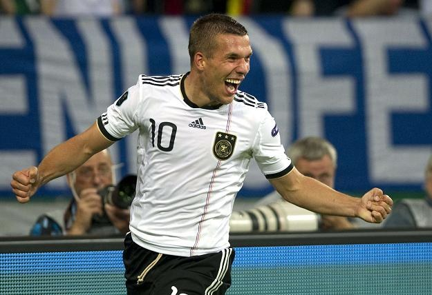 Lukas Podolski, piłkarz reprezentacji Niemiec /AFP