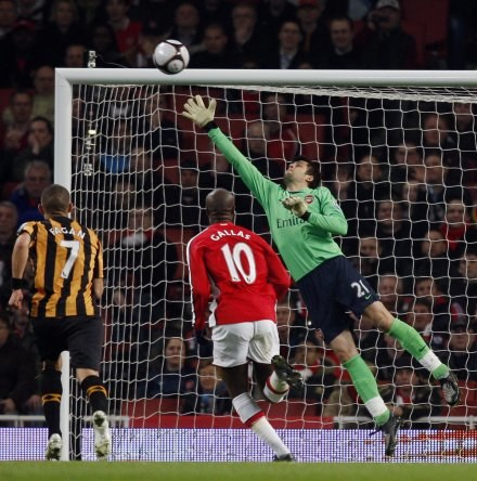 Łukasz Fabiański dobrze radzi sobie w bramce Arsenalu /AFP