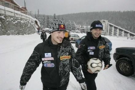 Łukasz Kruczek i Adam Małysz, fot: Jerzy Kleszcz /Agencja Przegląd Sportowy