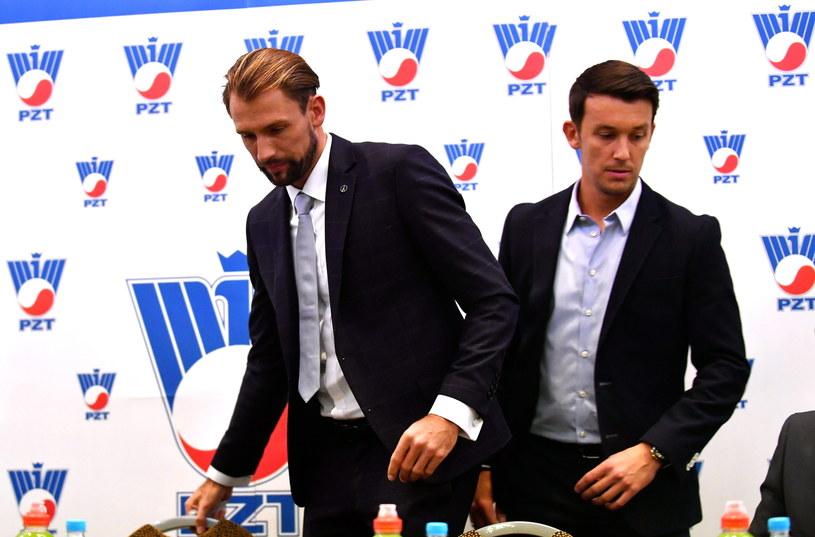 Łukasz Kubot (z lewej) i Dawid Celt /Bartłomiej Zborowski /PAP