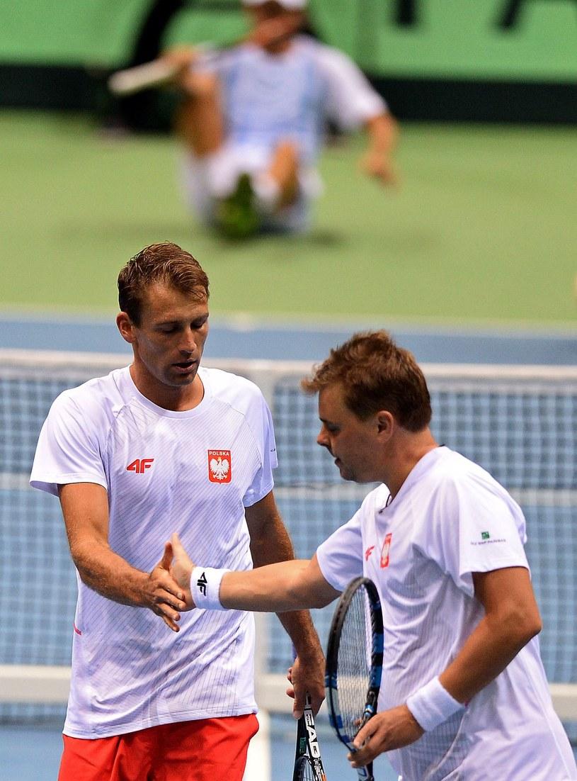Łukasz Kubot (z lewej) i Marcin Matkowski /AFP