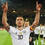Łukasz Podolski wybrał się na mecz Górnika Zabrze