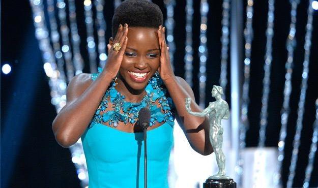 Lupita Nyong'o odebrała nagrodę od Amerykańskiej Gildii Aktorów /AFP