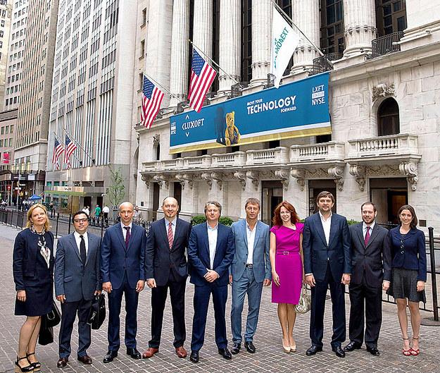 Luxoft jest spółką notowaną na NYSE. Zdjęcie z debiutu na nowojorskim parkiecie /&nbsp