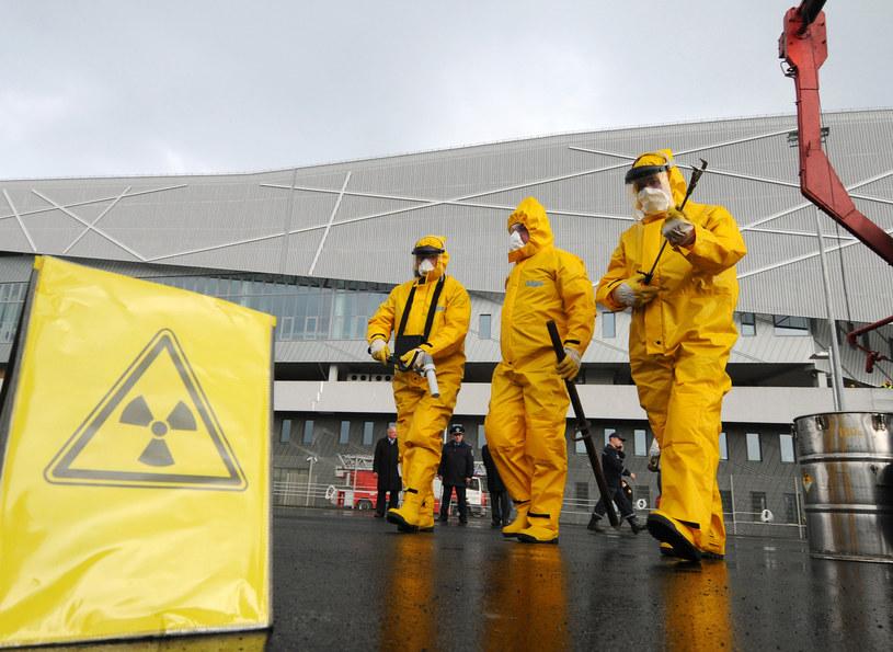 Lwów - szkolenie na wypadek radioaktywnego wycieku /AFP