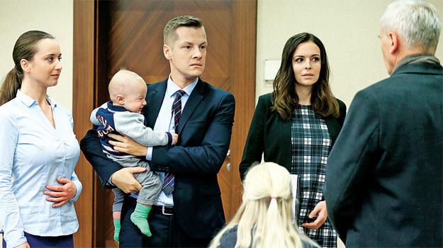 """""""M jak miłość"""": Filarski obiecuje Piotrkowi, że teraz bardziej zaangażuje się w wychowanie swoich wnuków /Tele Tydzień"""