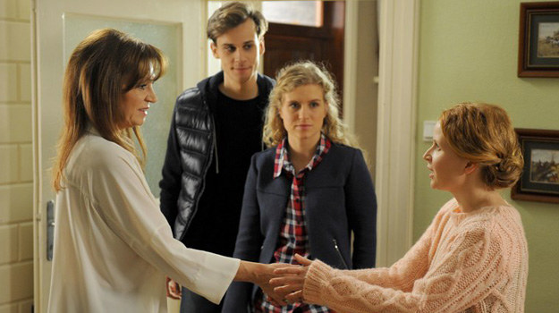 """""""M jak miłość"""": Matka Darka (Grażyna Strachota) nie zrobi dobrego wrażenia na Ewie /Agencja W. Impact"""