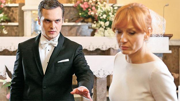 """""""M jak miłość"""": Olszewska nie chce zostać żoną człowieka, do którego nic nie czuje /www.mjakmilosc.tvp.pl/"""